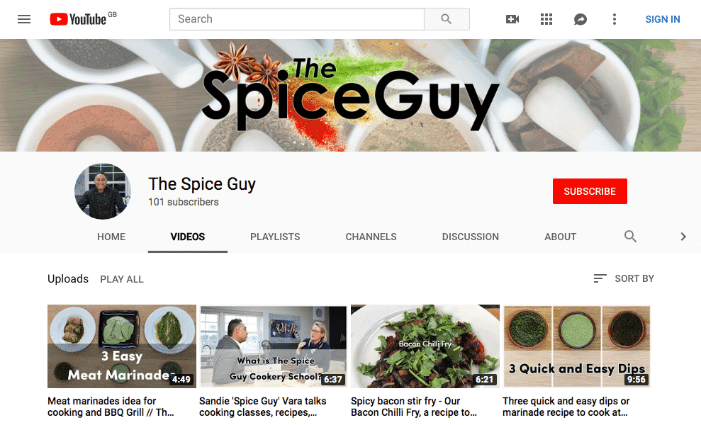 Example of a YouTube Banner