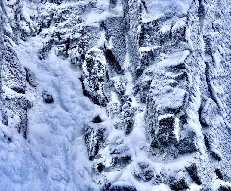 Hoar frost on rocks in the Cairngorms